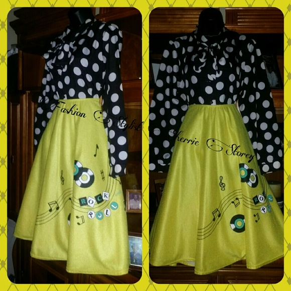 50's Rock & Roll Style Skirt/PRICE FIRM