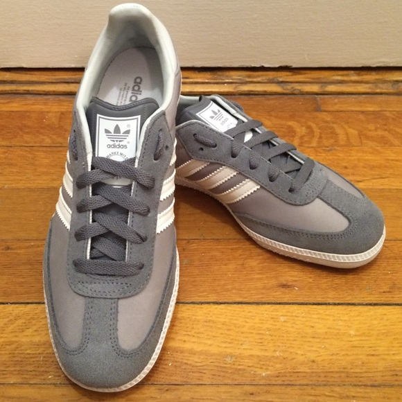new arrival 79e31 d83c3 Adidas Shoes - ADIDAS Women s Samba Grey   White ...