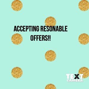 Shoot me an offer!