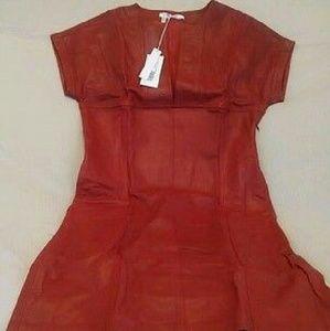 10 Crosby Derek Lam Dresses & Skirts - 10 crosby derek lam leather dress indian red