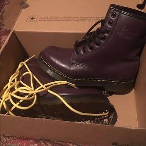 Dr marten purple boots