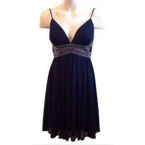 Blondie Nites Dresses & Skirts - Blondie Nites Sz Small Navy Blue Mini Dress