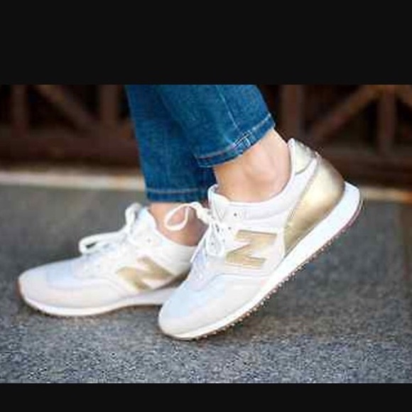 buy popular 86ff5 853b0 Gold salt new balance/ jcrew sneakers