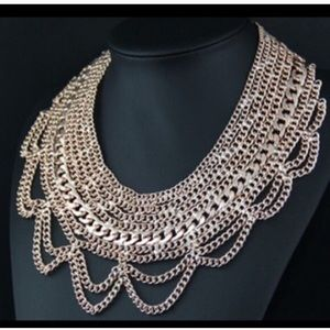 Gold Statement Chain Necklaces
