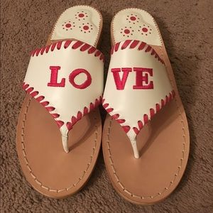 Jack Rogers Valentines Day Exclusive Sandals 6.5 7