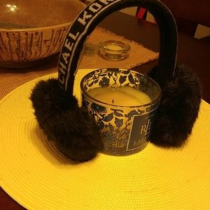 Michael Kors. Signature black Fur earmuff