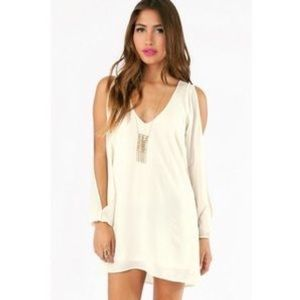 Shop Tobi white long sleeve dress