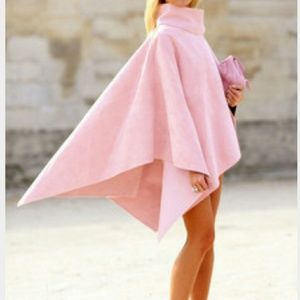 Jackets & Blazers - Pink cape wrap