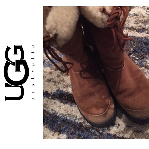 Ugg Boots Aztec Print with Front Suede Tie