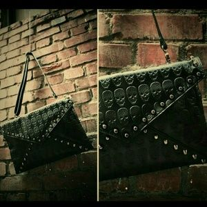 Skull Studded Clutch