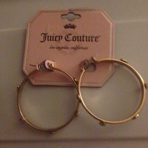 Reduced New Juicy Couture gold hoop earrings