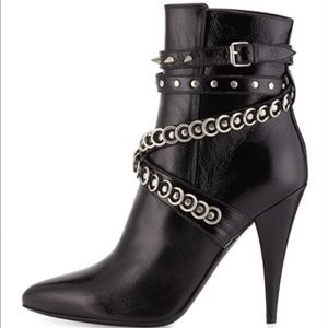 Saint Laurent fetish studded booties