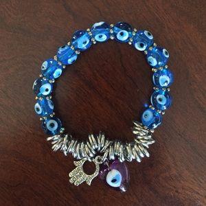 Evil Eye/Hamza charm bracelet