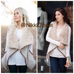 Love Tree Jackets & Blazers - Sale Faux Fur Vest Sleeveless coat jacket trendy
