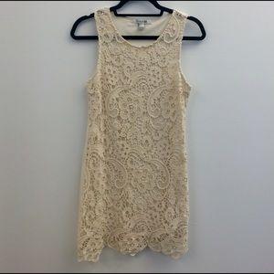 Forever 21 Crochet Fitted Dress
