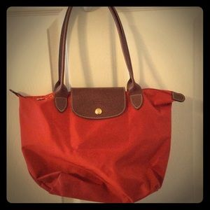Longchamp small Le Pliage  bag - Orange