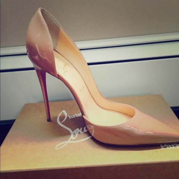 best authentic 982ab d1cb2 IRIZA 120 nude patent CHRISTIAN LOUBOUTIN