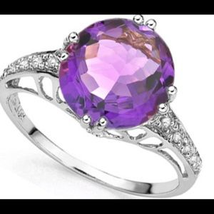 Jewelry - Amethyst and Diamond Ring