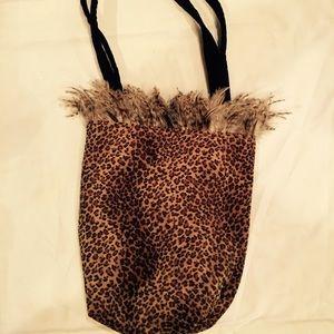 Leopard print velvety custom purse
