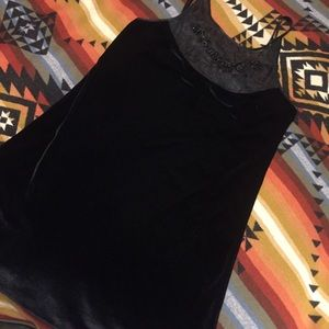 Velvet dress Beautiful vintage black nightie slip