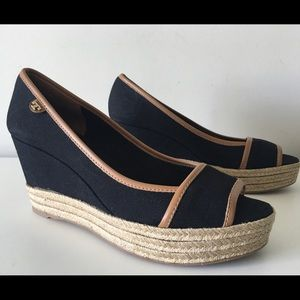 TORY BURCH MAJORCA WEDGE ESPADRILLE SIZE 42