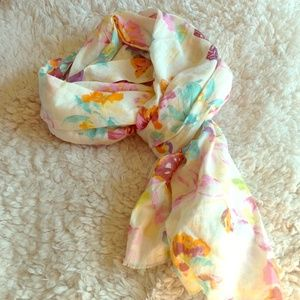 Gerard Darel Accessories - DONATING MID MAY Floral butterfly scarf cotton