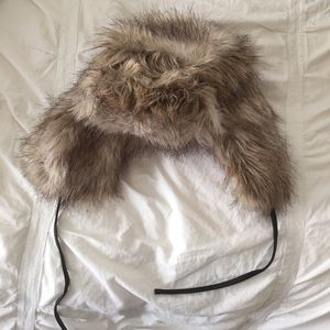 BOGO FREE NWOT Fluffy Faux Fur Ear Flap Hat