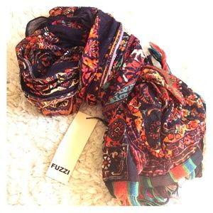 FINAL PRICE OR GIVING AWAY! Black orange scarf NWT
