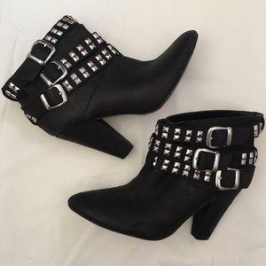 Zara Black Studded Booties