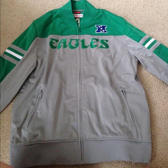 big sale 7db41 66222 Mitchell & Ness Eagles NFL track jacket NWT