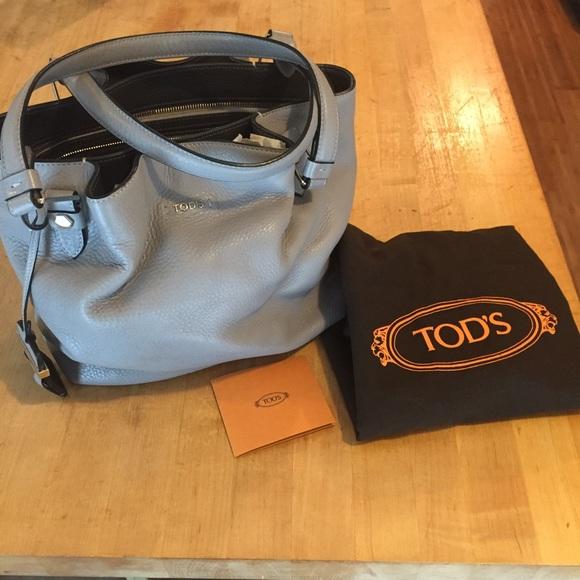 82e837f2574 Tod's Bags | Grey Tods Medium Flower Bag | Poshmark