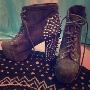 Jeffrey Campbell suede spiked litas