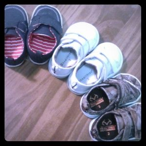 Shoes - 3 pairs of size 2 infant boy shoes