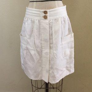 JCrew Linen Skirt With Side Pockets
