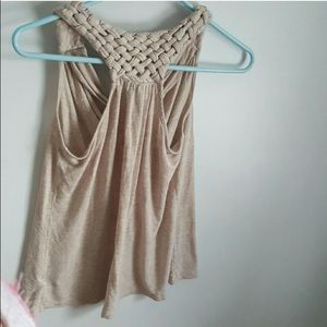 Racer back braided top