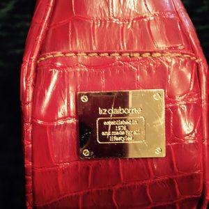 Liz Claiborne Bags - Red leather Liz Claiborne purse.
