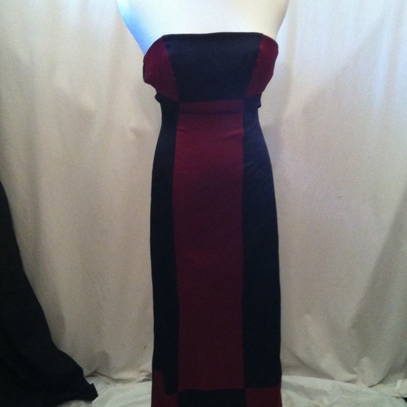 de0af6498f34 masquerade Dresses | Red And Black Colorblock Formal Dress | Poshmark