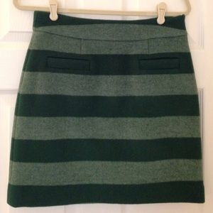 Kate Spade 2 tone green wool skirt