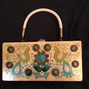 Enid Collins Original Box Bag Handbags - Vintage Box bag purse w/ full mirror OBO