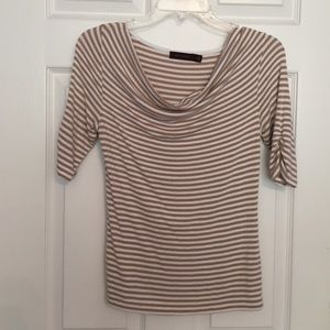 The Limited striped cowl neck top