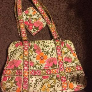Vera Bradley Squared Away bag with Wallet!