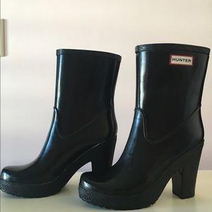 HUNTER Arnie high heel boots size 9