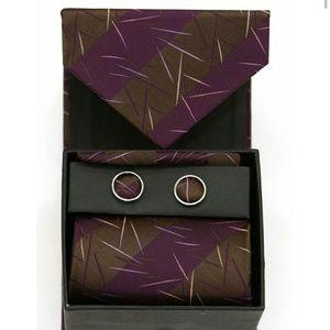 Ferrecci Accessories - Boxed necktie, hanky and cufflinks set