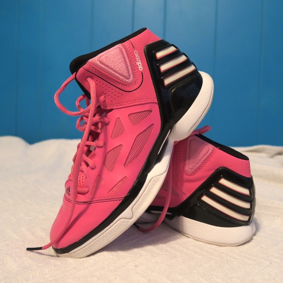 Adidas Pink AdiZero Rose 2.5 Bball Sneakers Size 6 bf7393ad3f87