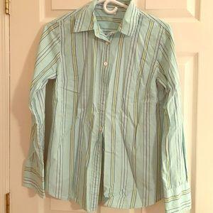 Jcrew striped blue blouse