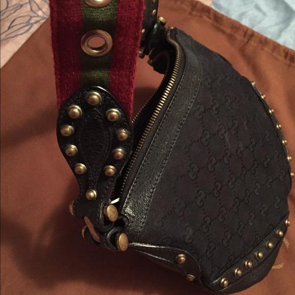 92794e67f9ac1f Gucci Bags | Black Gold Studded Handbag | Poshmark