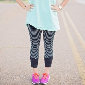 Lululemon Runday Crop Parallel Stripe Pants