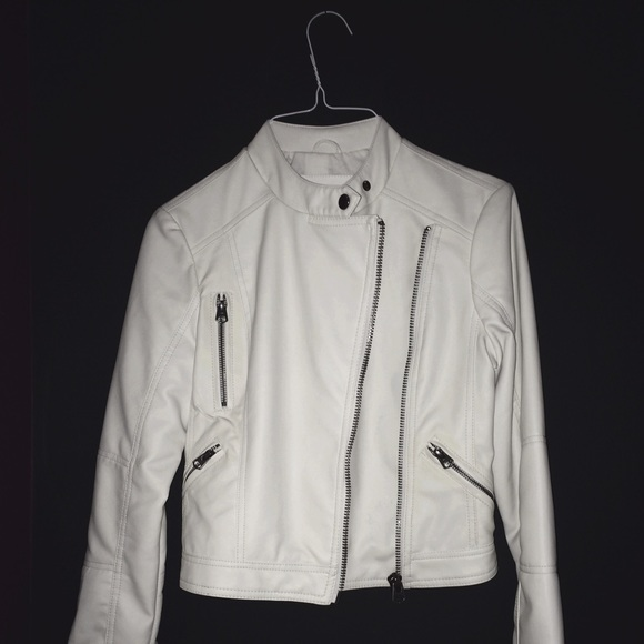 53% off Black rivet Jackets & Blazers - Genuine white leather ...