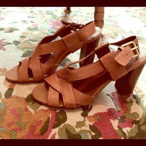 Franco Sarto nude heel sandal size 6