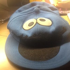 Blue Cookie Monster hat